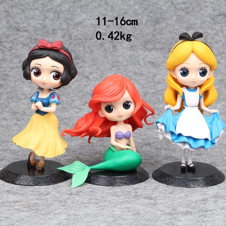 3pcs/lot White Snow Mermaid BaseCar Micro landscape Ornaments Action Figure Beautiful Princess Decoration Hand made Dolls