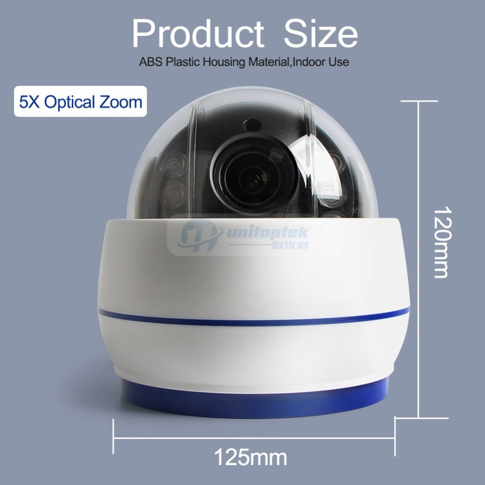 Image 5 - Wireless Speed Dome PTZ IP Camera Wifi HD 1080P 2MP Auto Focus 5X Zoom 2.7 13.5mm Indoor Audio SD Card IR Night Onvif P2P-in Surveillance Cameras from Security & Protection