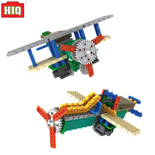 RC Plane Jet Aircraft Remote Control Electric Building Blocks Toys 4CH 2IN1 RC Toys Educational Kit