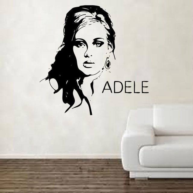 Hwhd adele design wall decal vinyl wall sticker art celebrity famous free shipping