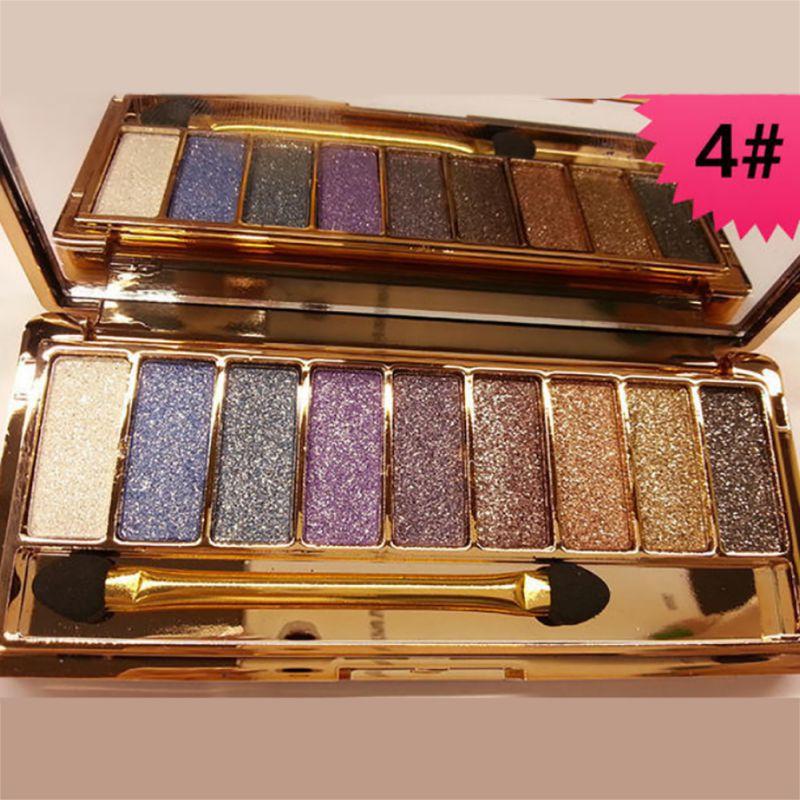 Women Eyeshadow Palette Diamond Bright Shining Colorful Makeup Eye Shadow Flash Glitter Make Up Set With Brush
