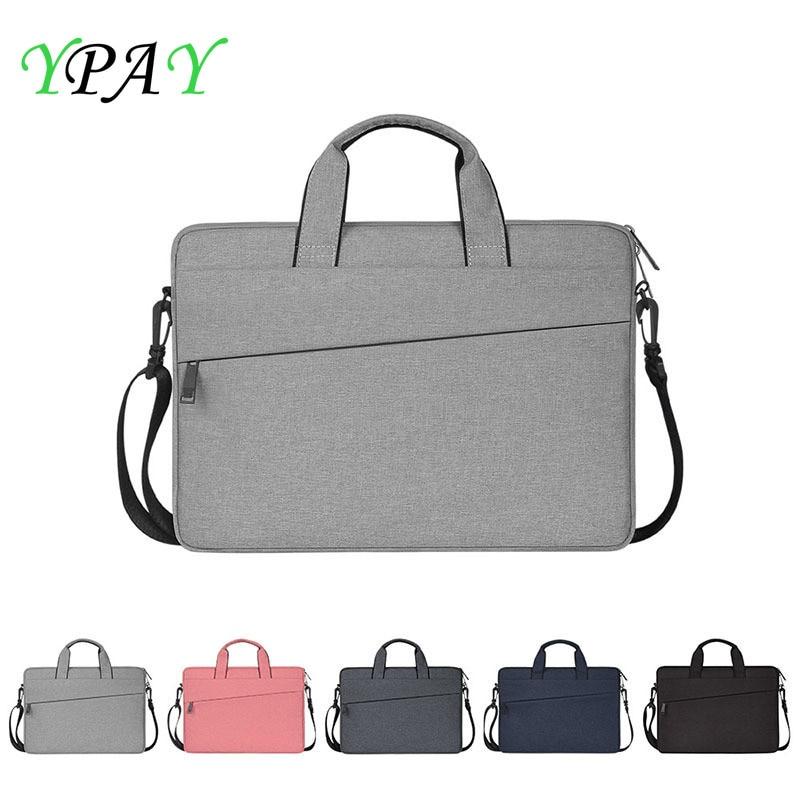 Portable Business Briefcase Laptop Bag Case For Macbook Air Pro Retina 13 14 15.6 Inch Notebook Laptop Shoulder Strap Computer