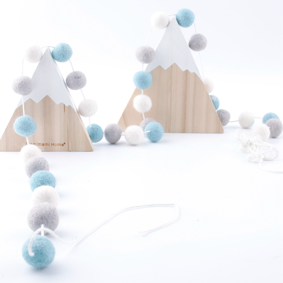 Bed Rattle 20Pcs Wool Felt Ball Decor Room Colorful Beads Gifts For New Year DIY Crafts Accessories Safe Toys Christmas Gift