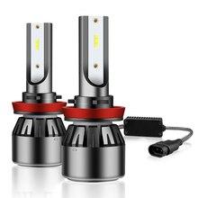 2X Mini H7 LED Canbus Bulb H4 LED H11 H8 H1 Car Light Headlight Bulb HB3 9005 9006 H9 HB4 CSP 10000LM 100W 6500K 12V 24V Led 2x h7 h4 led bulb 12000lm car headlight led car lamp fanless h8 h9 9005 hb3 9006 hb4 50w 6500k 24v zes led h11 12v car lamp