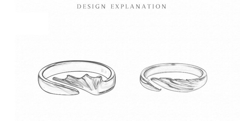 Silvology 925 Sterling Silver Angel And Devil Couple Rings Original Creative Texture Romantic Rings For Lovers Festival Jewelry