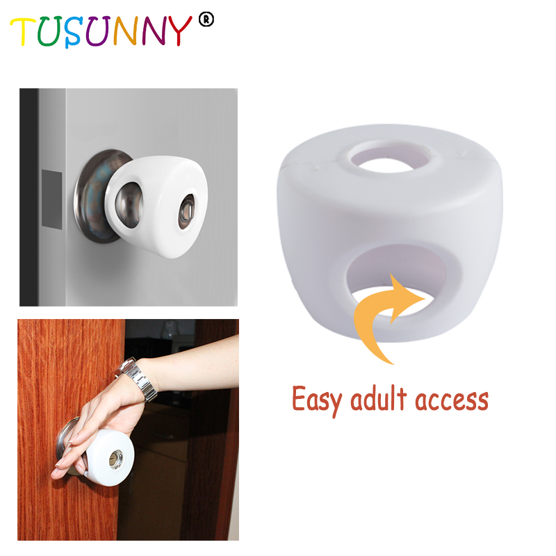 TUSUNNY 4PCS Door Knob Covers  Child Safety Cover  Child Proof Doors Child Protection