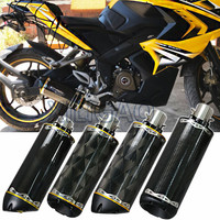 Motorcycle Exhaust Pipe Carbon Fiber CNC Muffler For YAMAHA R1 R6 Benelli 600 Honda CBR1000 ESCAPE Twobrothers Two Brothers BR05
