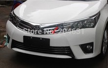 ABS Chrome Front Grille Around Trim Racing Grills Trim 1pc For 2014 Toyota Corolla Fast air free shipping