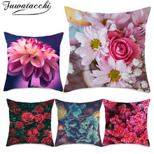 Fuwatacchi Flowers Cushion Cover Sunflower Rose Dandelion Pillow for Home Sofa Decorative Pillows Blooming