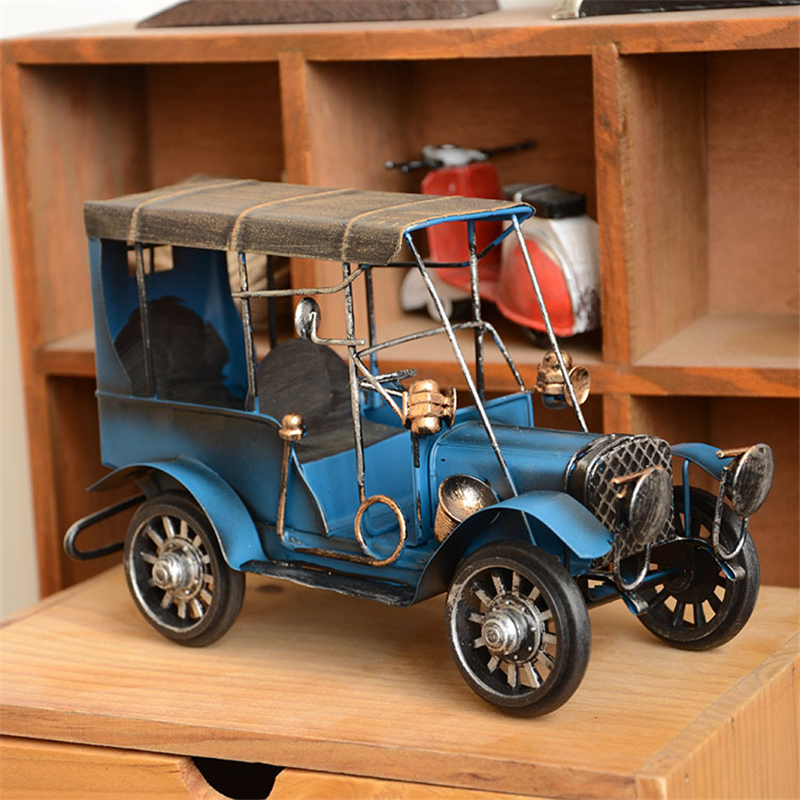 Vintage hunting diecast metal classic cars model alloy for Antique car decor