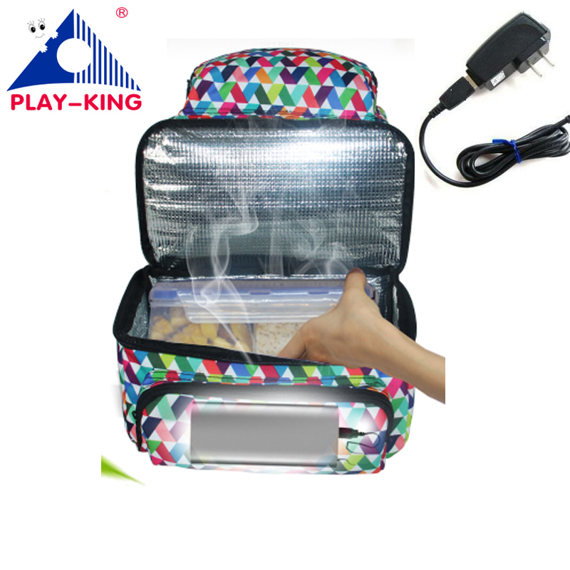 PLAYKING Insulated Lunch Bag Thermal Cooler Bag Lunch Box For Kids Women Heating Bag For Food Coolerbag backpack Picnic Bags newest insulated cooler thermal picnic lunch box waterproof tote lunch bag for kids adult outdoor bags picnic bag insulated bags