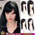 """8 """"12"""" 16 """"20"""" дюймовый Клип в реальные человеческие волосы женщина Кружева тупею моно кружева топ Девственные Природные Бразильские наращивание волос парик цвет"""