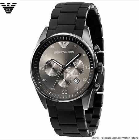 Relógios de pulso EMS / DHL Original Giorgio Armani para homem, - Relógios masculinos