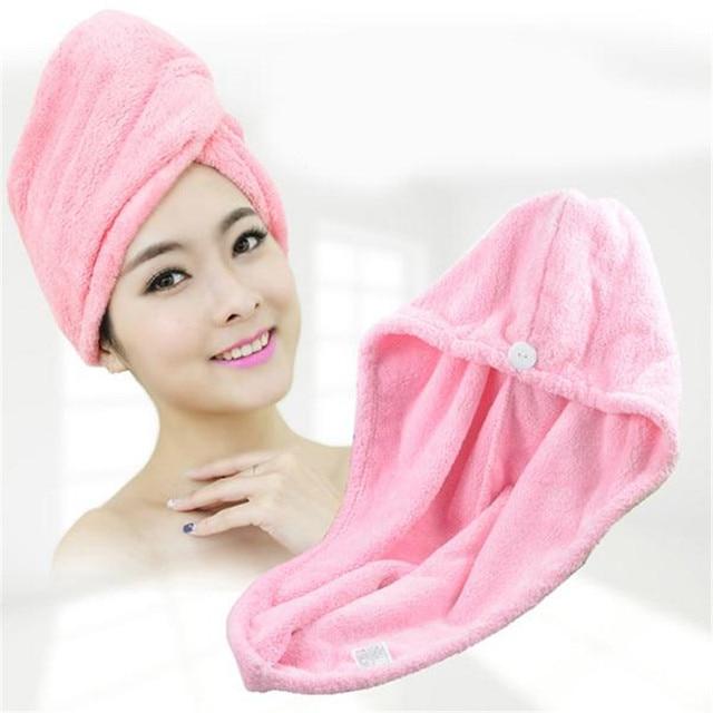 Assorbente Rapido Asciugamano Capelli Asciutti In Microfibra Tessuto Cappello di