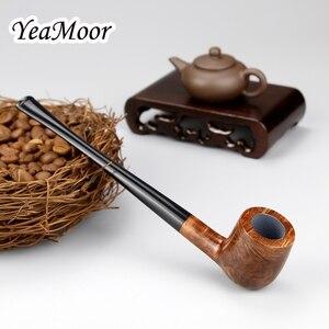 Image 3 - Briar en bois, filtre de 3mm fait à la main pour Pipe à fumer, 17cm de Long, tube de tabac droit, ensemble doutils gratuits
