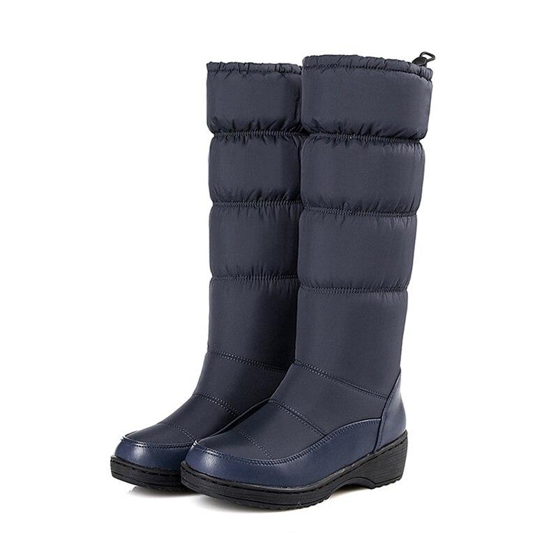 Abajo Invierno white Blue Mujeres black Moda Nuevo Nieve Caliente Botas 2018 De Zapatos de Mujer Las Estilo awwxAOqH