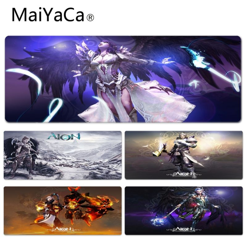 MaiYaCa Hot Sales Aion Game Keyboard Gaming MousePads Size for 30x90cm 40x90cm Rubber Rectangle Mousemats