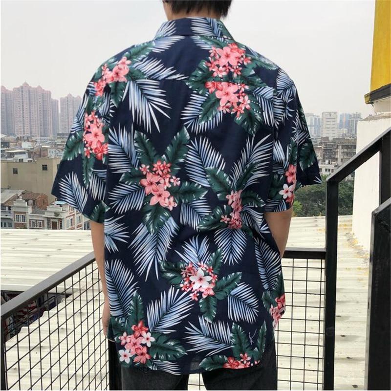 b3f64cb092d7 Vintage Floral Hawaii Shirt Casual Couple Summer Hawaiian Shirts Printing  Beach Party Short Sleeve Shirts Clothing A5495-in Casual Shirts from Men's  ...