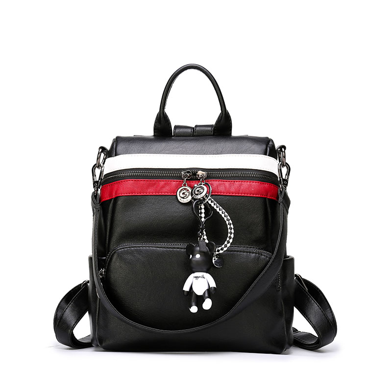 New split cow leather shoulder bag Korean student bag fashion cowhide handbags tide girls wild simple personality backpack