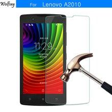 2Pcs Voor Glas Lenovo A2010 Gehard Glas Voor Lenovo A2010 Screen Protector Voor Lenovo A2010 A Beschermende Film A2010A Wolfsay