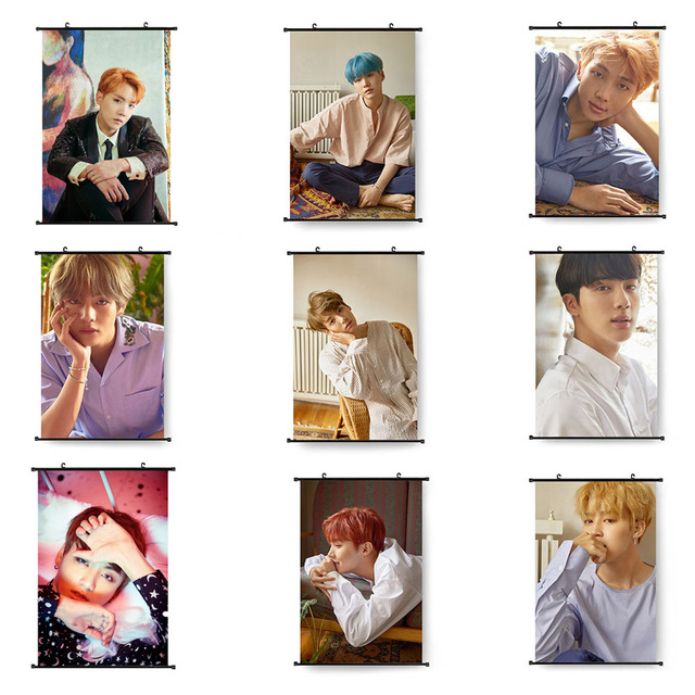 2018 New Version Bts Face Yourself Painting Scrolls Wall Decor Bts