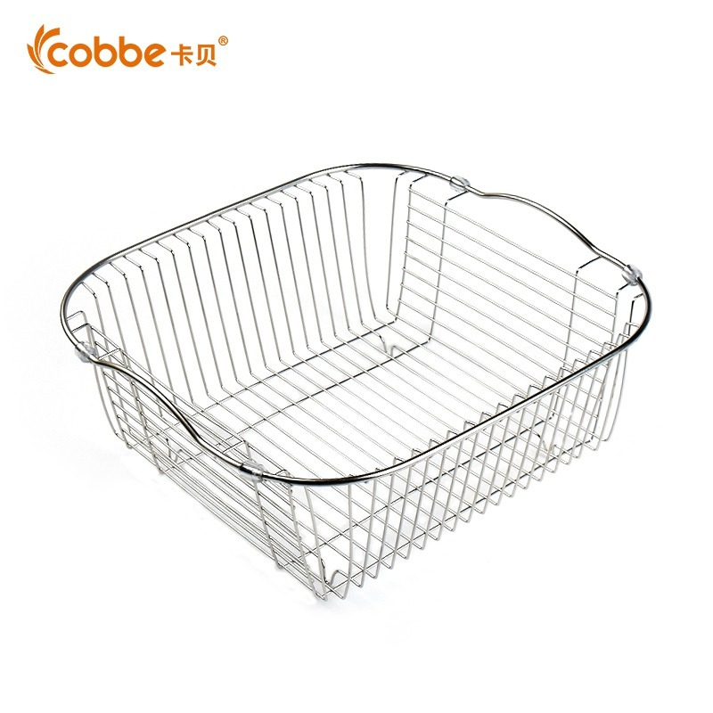 About The Stainless Steel Kitchen Sink Drain Basket Vegetable Washing Basin Dish Rack Rack Accessories Pool Of Single And Double