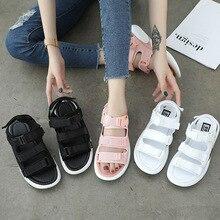 INS/Лидер продаж; женские босоножки; Новинка года; обувь на платформе; летние женские сандалии белого цвета, визуально увеличивающие рост; пляжные сандалии; Прямая поставка