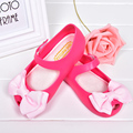 Mini melissa sandalias de las muchachas sandalias 2016 de los niños mariposa nudo 3 colores sandalias de los niños de dibujos animados zapatos de la princesa zapatos de la jalea