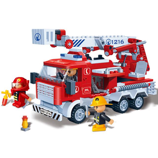 Fire Fighting Car Blocks Set