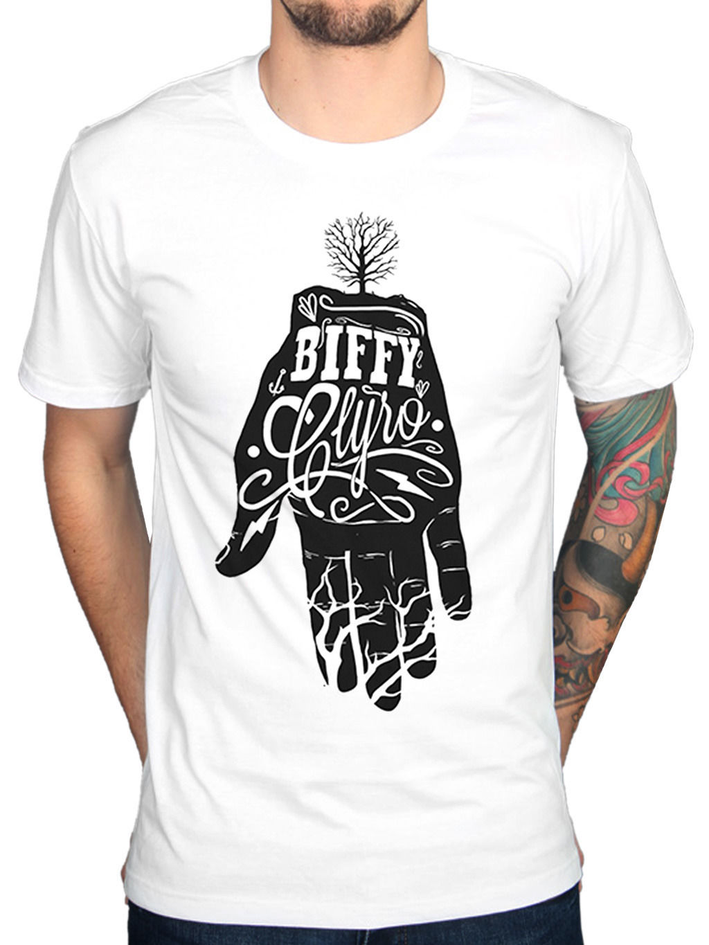 2018 Fashion Classic Biffy Clyro Hand T-Shirt Only Revolutions Blackened Sky New Merchandise Casual Short Sleeve Shirt Tee