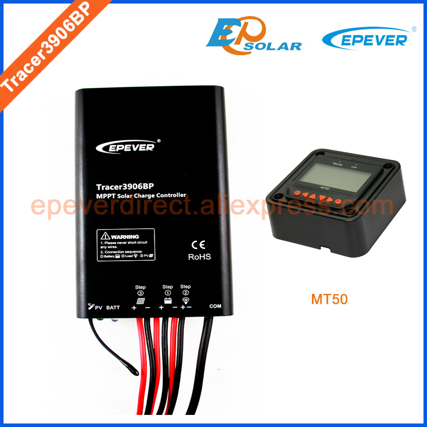 Solar cells PV system solar controller MT50 remote Meter Tracer3906BP 15A 15amps,12V/24V battery charging work EPEVER/EPsolar cells at work 1
