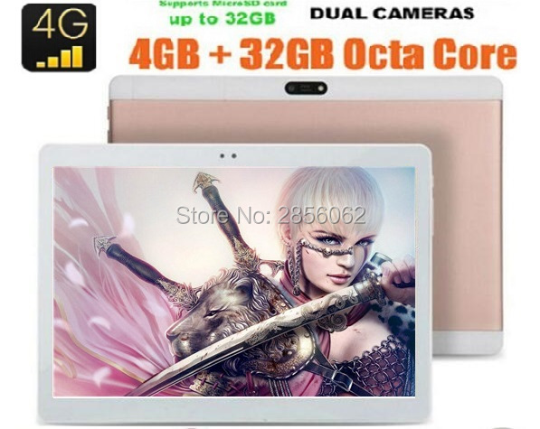 10 inch 4G LTE Tablet PC Android 6.0 MTK8752 Octa Core 4GB RAM 64GB ROM Dual SIM GPS 1920*1200 IPS HD GPS Tablet 10