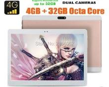 10 pulgadas 4G LTE Tablet PC Android 6.0 Octa Core 4 GB MTK8752 RAM 64 GB ROM Dual SIM GPS 1920*1200 IPS HD de la Tableta del GPS 10″
