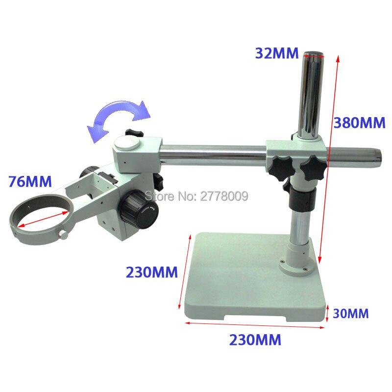 Table de travail de réparation d'objectif de caméra de Microscope stéréo trinoculaire binoculaire 360 degrés de réglage de Rotation libre diamètre de bague 76 MM