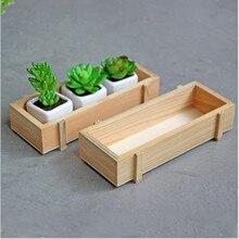 Maceta para planta de jardín, maceta decorativa Vintage de flores naturales, suculenta caja de madera, mesa rectangular, cama de flores, lecho de planta, maceta L3
