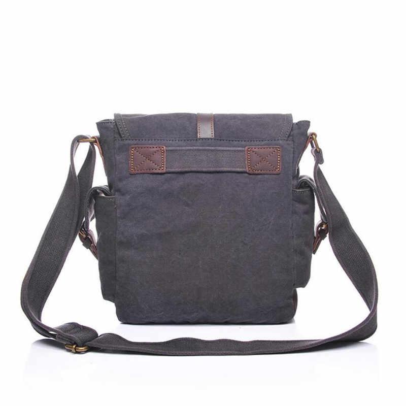 ¡Oferta! bolso yooffish clásico de lona caqui/verde militar/gris para hombre, bolso de hombro, bolso cruzado, envío gratis XZ-059