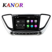 KANOR Android 7 1 IPS Car DVD Player For Hyundai Verna Solaris Accent 2017 Video Multimedia