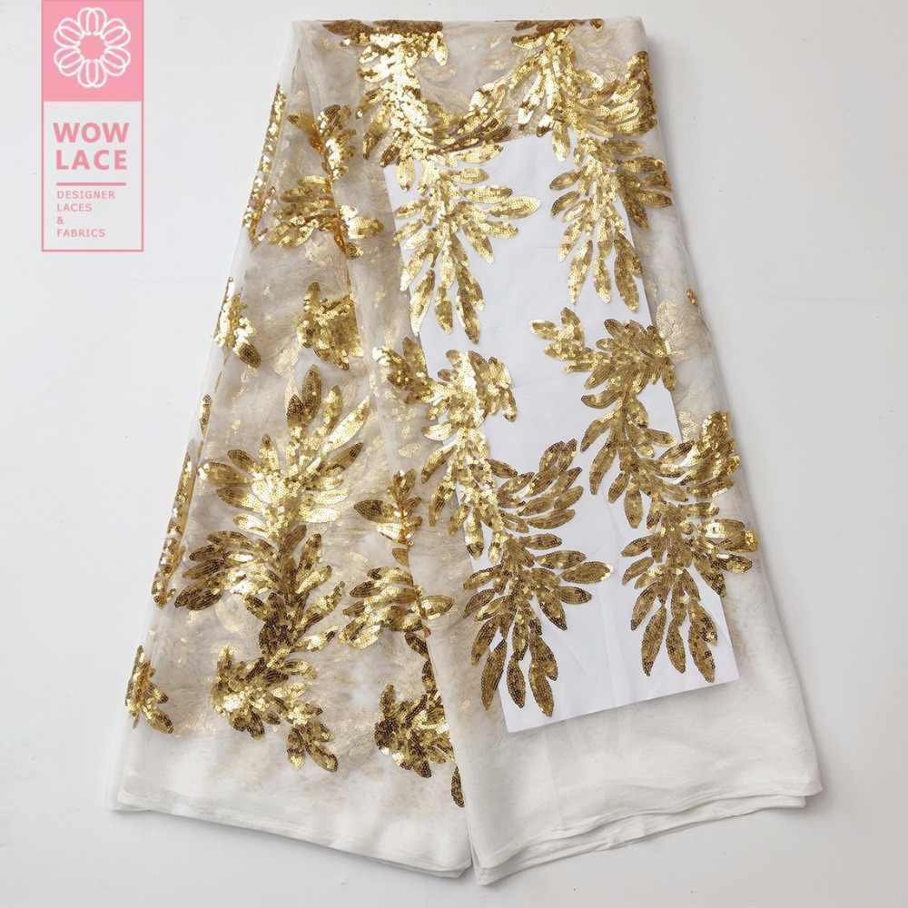 Золотой Тюль с блестками сетка тюль материал 2019 последние расшитые блестками кружево гипюровое для индийских женщин вечерние платья ткани