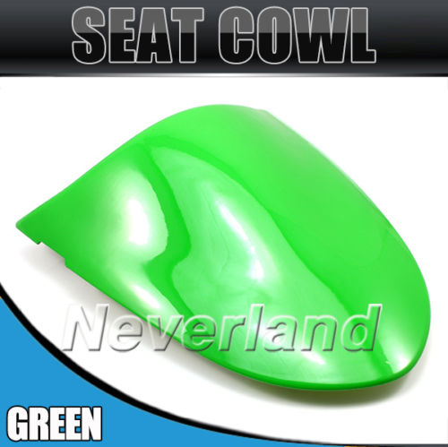 2015 Hot sale Motorcycle Rear Seat Cover Cowl for Kawasaki Ninja ZX10R 2006-2007/ZX6R 636 2005-2006 Green#90C20 Free shipping for 2009 2014 kawasaki zx6r zx 6r 636 motorcycle rear passenger seat cover cowl green black 09 10 11 12 13 14