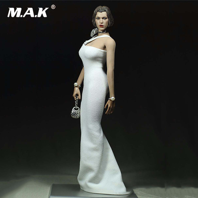 a87d49704518c 1/6 Customize dress Clothing White Pearl For Phicen Female Large Bust Action  Figure Doll