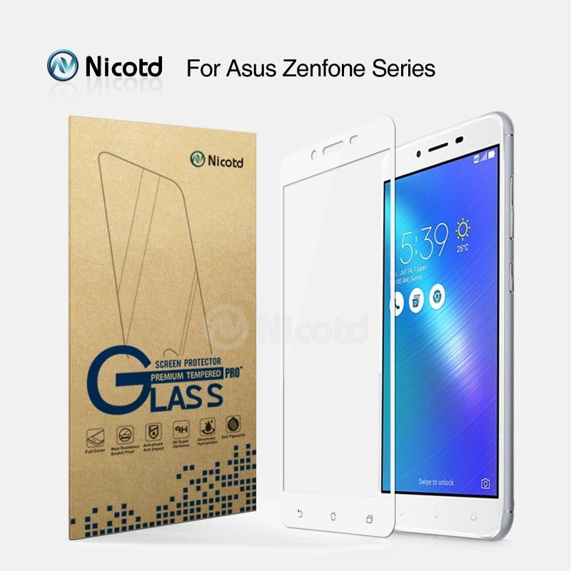 asus z520tl zenfone - 2Pcs Nicotd Full Cover Tempered Glass For Asus Zenfone 3 Max ZC520TL ZC553KL ZE520KL ZE552KL Live ZB501KL Screen Protector Film