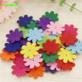 HAPPYXUAN 40pcs/pack Children's DIY non-woven Felt Fabric Flowers Handmade Craft Material Kids