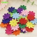 Happyxuan 40 unids/pack niños diy fieltro no tejido de flores de tela hecha a mano material de artesanía para niños