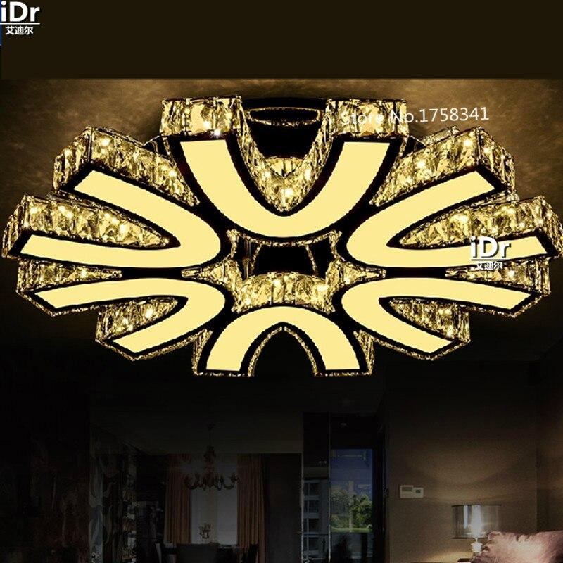 Круглый кристалл лампы светодиодные светильники потолочные творческий современный минималистский ресторан лампы спальня гостиная лампы