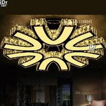 Круглый Кристалл Лампы ПРИВЕЛО потолочные светильники творческий современный минималистский ресторан лампы спальня гостиная лампы Высококлассные атмосферу