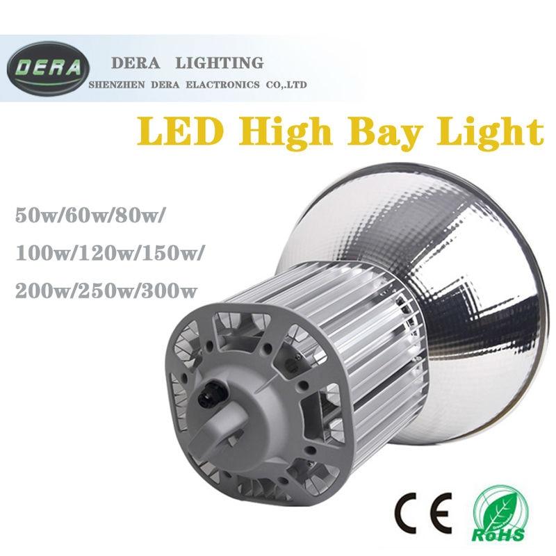 120W Terintegrasi Pencahayaan Industri High Bay Light Lampu Gudang Langit-langit Pabrik Lantai Pencahayaan LED Mining White