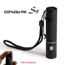 Convoy S9 flashlight ,  XM L2 inside,1400mA,with micro USB charging port
