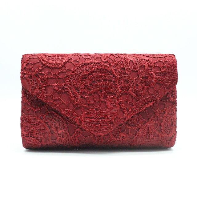 8f075747c6 Saco de noite Bolsa Bolsa de Embreagem Das Mulheres Bolsa Rendas Embreagem  Envelope Saco Do Casamento