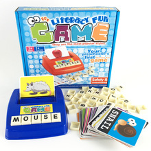 English spelling words Card Game literacy fun Typewriter for children party games finger game kids Cognitive play Plastic