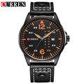 Marca de lujo curren militar deportes relojes hombres casual reloj análogo de cuarzo de pulsera relogio masculino montre homme 8224